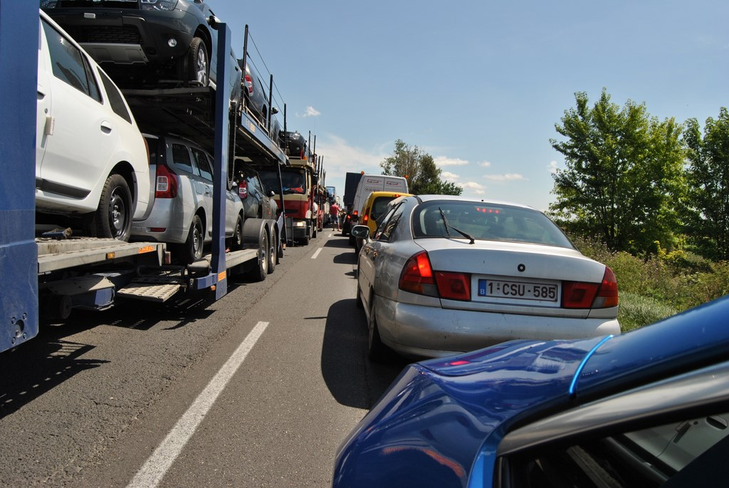 Zápcha na hraniciach Rumunska