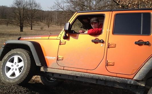 Ivan a Jeep Wrangler